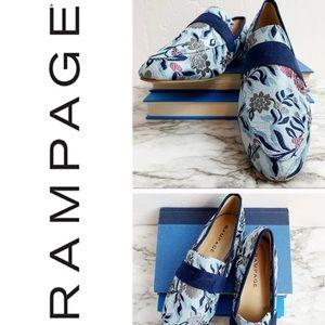 Rampage Dacia Brocade Flats Loafers NWOT